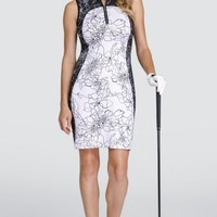 """Tail Ladies Giselle 36.5"""" Sleeveless Golf Dress - BETTER THAN BASICS (Etched Floral Light)"""