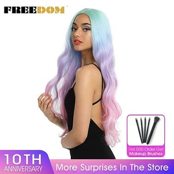 FREEDOM Synthetic Lace Front Wigs Long
