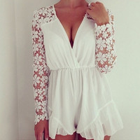 Stay In Lace Playsuit