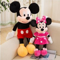 2018 Hot Sale 40-100cm High Quality Stuffed Mickey&Minnie Mouse Plush Toy Dolls Birthday Wedding Gifts For Kids Baby Children
