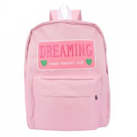 Sweet Candy Color and Letter Design Satchel For Women
