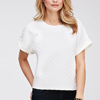 Textured Crosshatch Dolman Tee