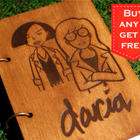 Daria wooden notebook refillable / sketchbook // travelbook (personalisation available)