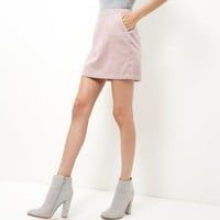 Pink Cord A-Line Skirt