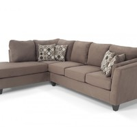 Libre II 2 Piece Right Arm Facing Bob-O-Pedic Sleeper Sectional | Living Room Sets | Living Room | Bob's Discount Furniture