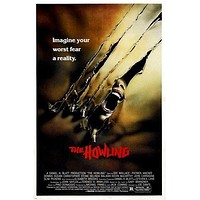 the HOWLING vintage movie poster CLASSIC COMIC HORROR dee wallace 24X36 WILD