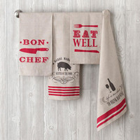 Set of 4 Assorted Inspired Kitchen Towels