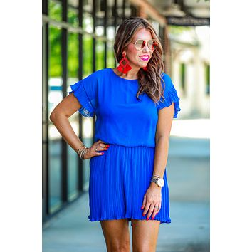Crowd Pleaser Royal Ruffle Romper