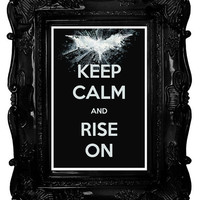 Keep Calm and Rise On (The Dark Knight Rises) 12 x 18 Keep Calm and Carry On Parody Poster