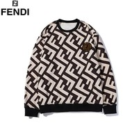 Fendi 2019 new double F jacquard letter round neck pullover sweater