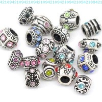 Ten (10) of Assorted Crystal Rhinestone Beads (Styles You Will Receive Are Shown in Picture Random 10 Beads Mix) Charms Spacers for Bracelets Fits Pandora, Biagi, Troll, Chamilla and Many Others:Amazon:Jewelry