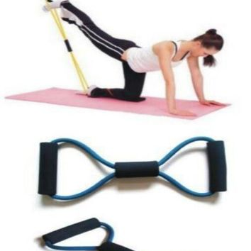 deals] Fitness Workout Yoga  Pull Rope Lines Bands Belt  Gym Body Building Resistance Training Fitness Equipment Tool = 5988112833