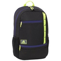 adidas Launch Backpack, Black/Collegiate Purple/Electricity, 20x13x7.5-Inch