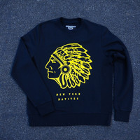 KITH New York Natives Crewneck - Navy | Apparel | Kith NYC