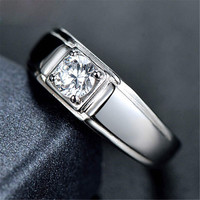 Mens Classic Silver Ring Adjustment Diamond Ring Love Jewelry Hight Quality Best Christmas Gift One Size Rings-78