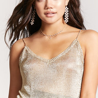 Contemporary Metallic Cami