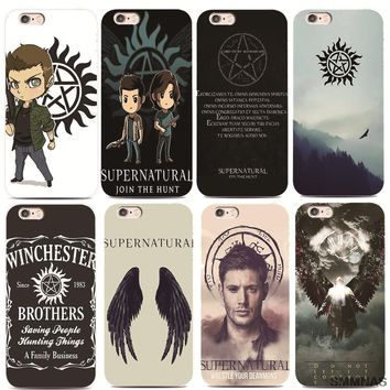 SMMNAS Supernatural TV Series For iPhone X 8 plus  Case Soft silicone Phone Cases For iPhone 7 Plus 6 6s Plus luxury Ultra Thin