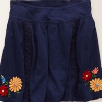 Aerie Women's Embroidered Skirt