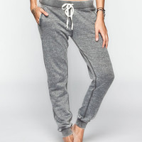 Full Tilt Burnout French Terry Womens Jogger Pants Charcoal  In Sizes