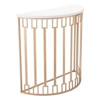 Bars Console Table White & Gold