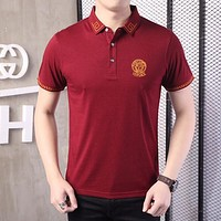 Versace  Men Fashion Casual  Shirt Top Tee