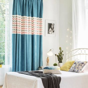 Drapes with Blue Angel