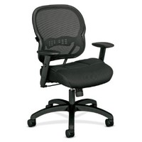 basyx by HON VL712 Mid-Back Chair with Adjustable Arms for Office or Computer Desk, Black