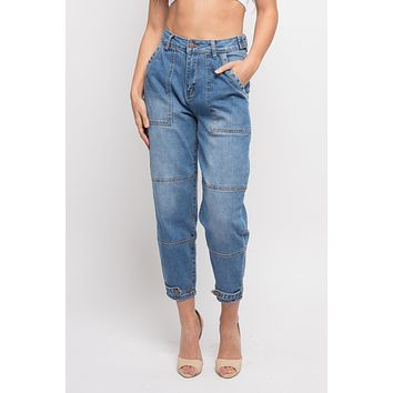 High Rise Slouchy Jeans