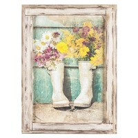 Flowers in Boots Framed Wall Art   Shop Hobby Lobby