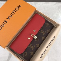 Kuyou Lv Louis Vuitton Gb19710 M61836 Canvas With Lv Padlock For Leather Purse 19x10cm