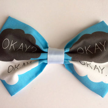 The Fault In Our Stars Novel by John Green TFIOS Inspired Hair Bow or Bow Tie
