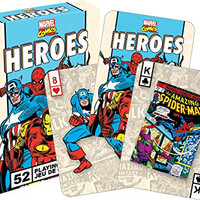 Marvel Heroes Retro Playing Cards