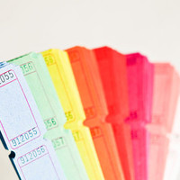 Blank Carnival Tickets in Color Assortment - Set of 200