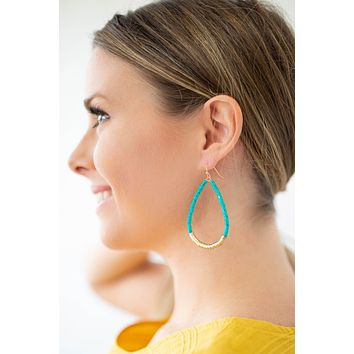 On The Run Turquoise Earring