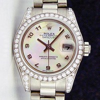 Rolex Lady President Gold Mother of Pearl Arabic Diamond 179159 - WATCH CHEST