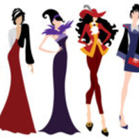 "Disney Villains Inspired Fashion Illustration 8"" by 20"" DIGITAL FILE Disney Inspired"