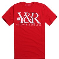 Young & Reckless Core Logo T-Shirt - Mens Tee - Red