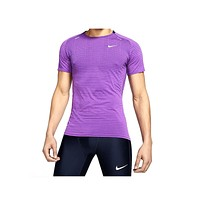 Nike Men's  TechKnit Ultra Purple Running Top