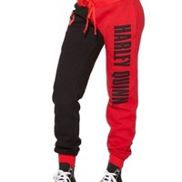 Hitmebox Autumn Winter Ladies Suicide Squad Harley Quinn ColorBlock Cosplay Costumes Joggers Trouser Sport Casual Long Pants