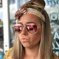 Rose sunglasses with case