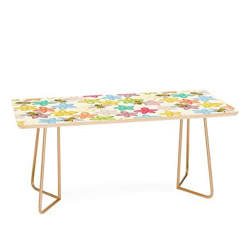 Sharon Turner Indian Summer flowers and bees Coffee Table