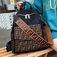 FENDI Fashion Casual Canvas More Letter Women Men Travel Bag School Bag Backpack