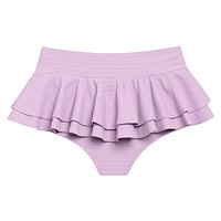 Lilac Micro Scrunch Ruffle Hot Short Bikini Bottom