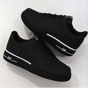 NIKE AIR FORCE 1 '07 Fashion Casual Running Sports Couple Shoes Sneakers Black