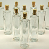 50 Mini Glass Bottles with Corks- 1-1/4 ounce, 35ML for DIY Favors, Message in a Bottle, Samples, Perfume, Potions