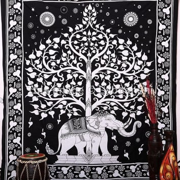 Elephant Tapestries Tapestry , Hippie Gypsy tapestry , Tree Of Life Tapestries , Wall Tapestries , Bohemian tapestries, Indian Tapestry Art