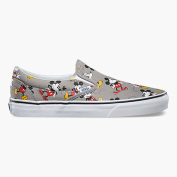 Vans Disney Mickey Mouse Classic Slip-On Shoes Multi  In Sizes