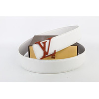 Louis Vuitton Woman Men Fashion Smooth Buckle Belt Leather Belt Skin Belts LV Beltt153