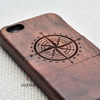 Real wood phone case,wooden iPhone 5S Case, Wood iPhone 5S Case,iPhone 5S case, For iPhone 5/5s/5c/4s Case,Engraving compass case,Gift