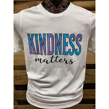 Southern Chics Apparel Kindness Matters Canvas Bright T Shirt